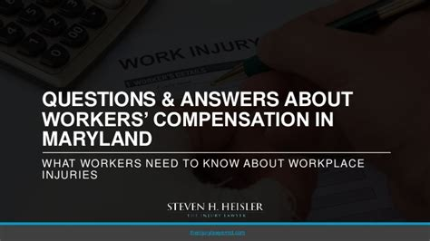 Maryland Workers Compensation Search Questions Answers About Workers Compensation In Maryland