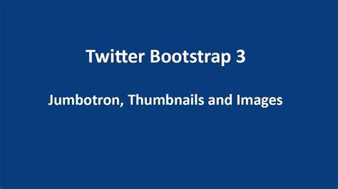 twitter bootstrap  tutorial  jumbotron thumbnails