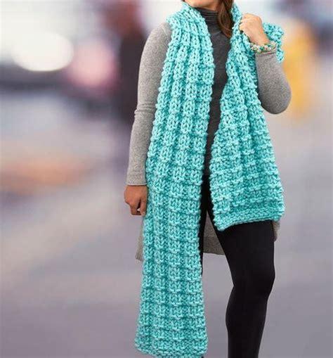 knitting pattern scarf 4mm needles basketweave chunky knit scarf free pattern