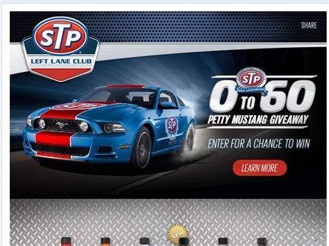 Today Show Car Giveaway - stp 0 to 60 petty mustang giveaway sweepstakes