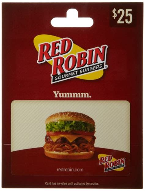 Red Gift Card - red robin gift card 25 shop giftcards