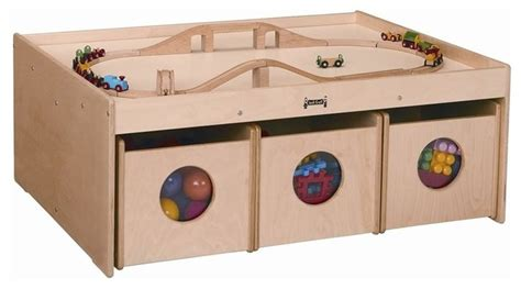 Activity Table With Storage by Jonti Craft Activity Table With 6 Storage Bins