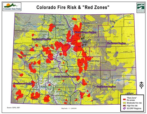 map of colorado wildfires 1 million colorado residents live in high risk