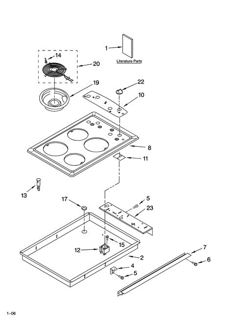 whirlpool cooktop parts whirlpool drop in range electric parts model