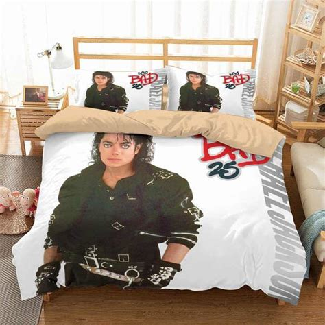 customize michael jackson bedding set duvet cover set bedroom set   lemons hometextile