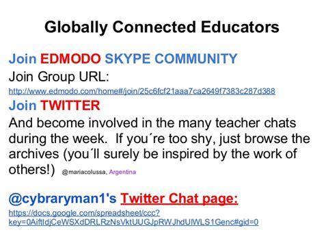 edmodo join url creating a global classroom