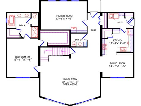 chalet style floor plans bathrooms 4