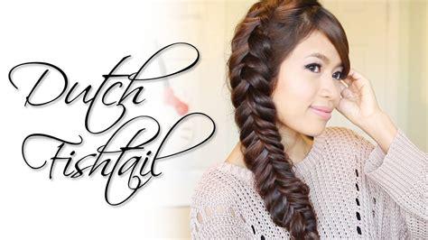 how to dutch fishtail braid elsa hair youtube dutch fishtail braid hairstyle hair tutorial youtube