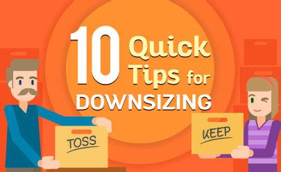 tips for downsizing downsizing tips how to ease the move to a smaller home