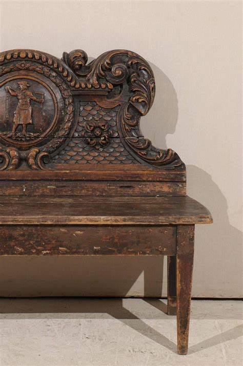 carved wooden bench italian 18th century richly carved wooden bench for sale