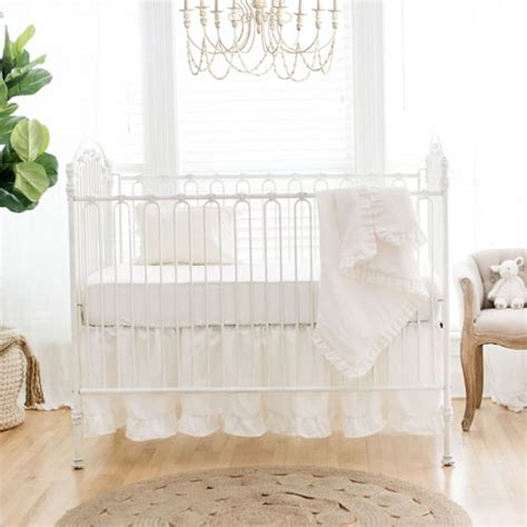 linen baby bedding white linen crib bedding baby girl bedding white linen