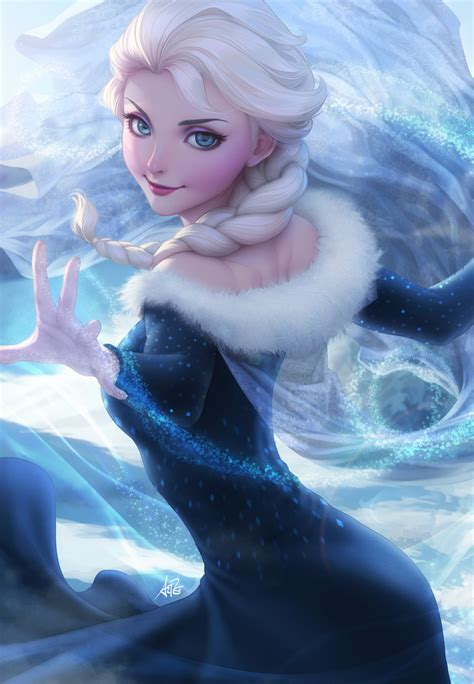 elsa painting elsa s new dress by artgerm on deviantart