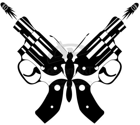 tribal gun tattoo designs butterfly revolver re ved by pikeface on deviantart