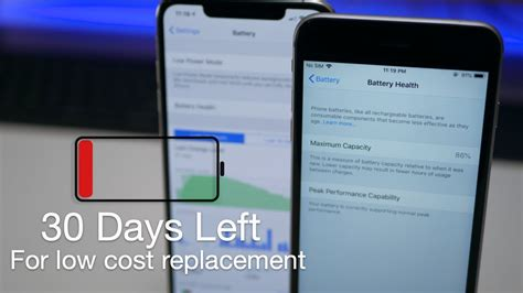 low iphone battery health get your battery replaced before the price goes up