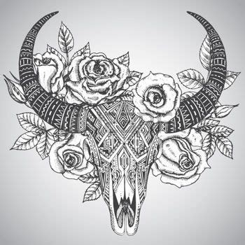 tribal bull skull tattoos 1000 ideas about bull skull tattoos on bull