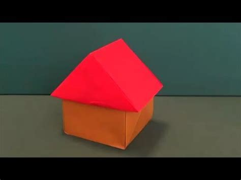 Three Dimensional Origami - 簡単 立体的な 家 折り紙easy three dimensional quot house quot origami
