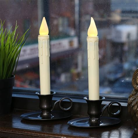 Solar Window Candle Lights Lights Flameless Candles Window Candles Ivory 9