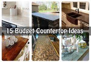 kitchen countertop ideas on a budget 15 budget countertop ideas
