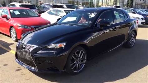 lexus is 250 blacked out new black on red 2015 lexus is 250 awd f sport series 3