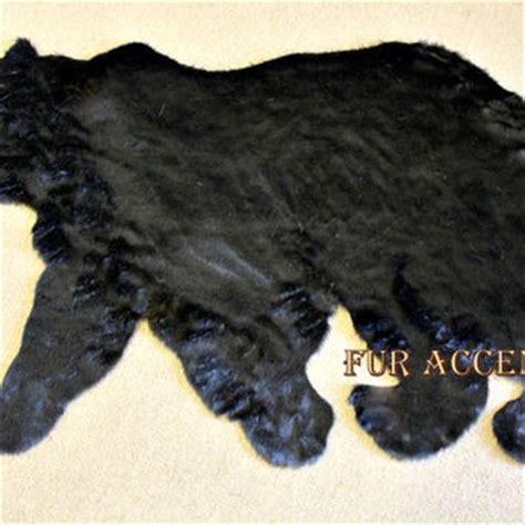 teddy skin rug plush soft faux fur fabric black from shannaleigh25 on etsy