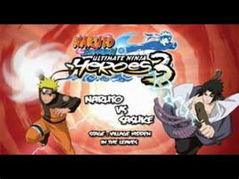 naruto shippuden ultimate ninja heroes 3 europe naruto shippuden ultimate ninja heroes 3 psp gameplay