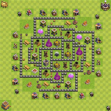 coc layout th 8 clash of clans base plan layout for farming town hall