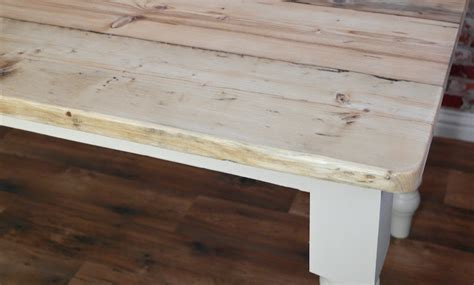 scrub top stripped pine reclaimed wood kitchen dining