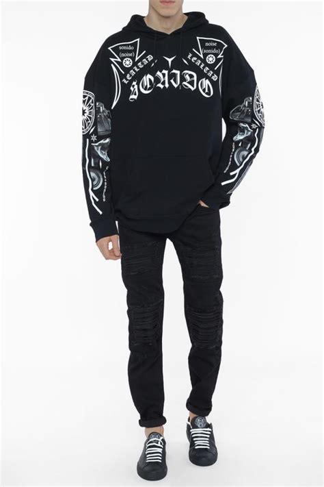 Printed Oversized Sweatshirt printed oversize sweatshirt marcelo burlon vitkac shop