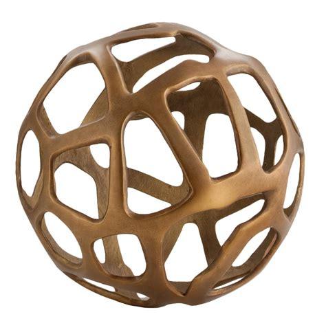 decorative sculptures for the home ennis antique brass web sphere sculpture decor object 10