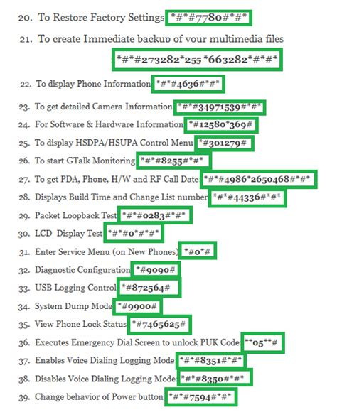 android secret codes top 39 android secret code