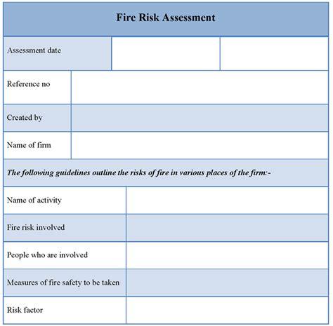 fire risk assessment template gt gt 21 beaufiful fire risk