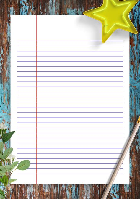 printable lined paper template narrow ruled