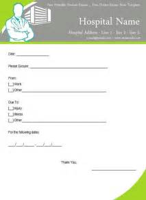 Sick Note Template Free by Sick Notes Templates Virtren
