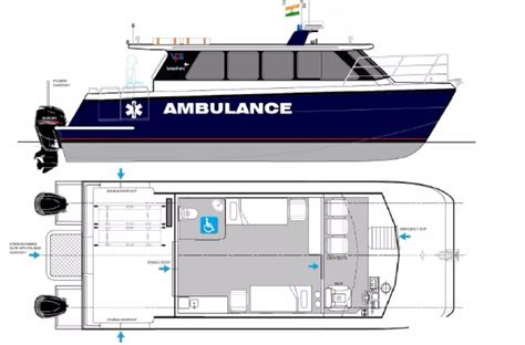 Ambulance Boat 10 M new 10m ambulance boat obm version commercial vessel