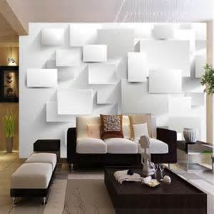 wall murals living room aliexpress com buy embossed abstract cubic wallpaper