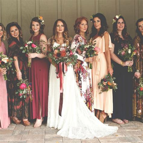 petal colored bridesmaid dresses 25 best ideas about patterned bridesmaid dresses on