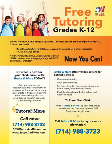 tutoring flyer template best photos of tutoring flyer template word