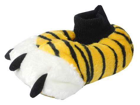 boys slippers size 2 boys novelty fur animal tiger slippers