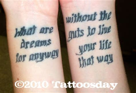 tattoo w lyrics tattoosday a tattoo blog jackie s bouncing lyrics