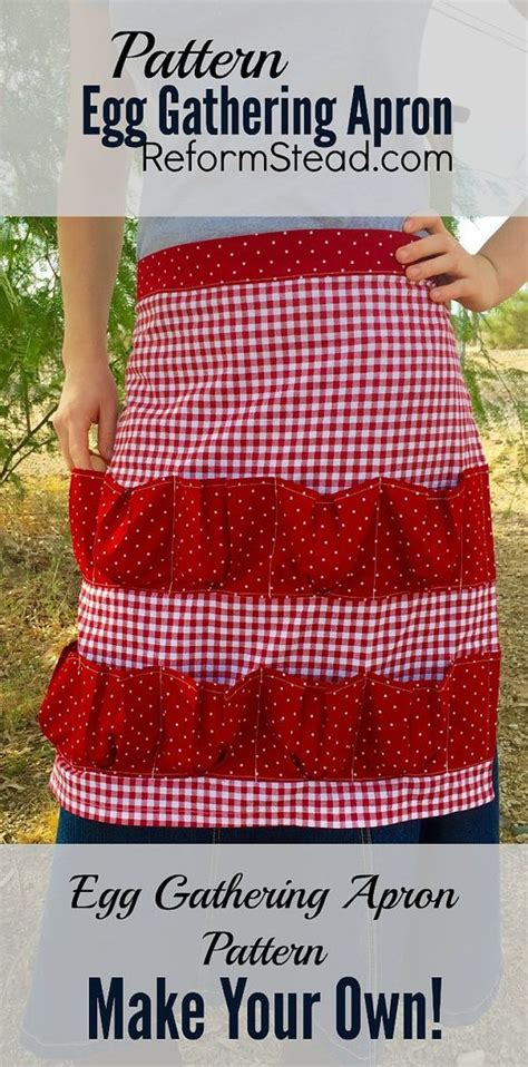 pattern for egg apron apron patterns aprons and eggs on pinterest