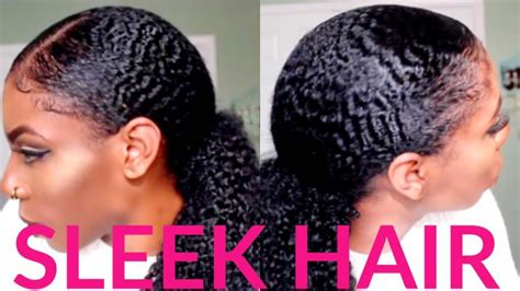 Wash And Go Styles For Transitioning Hair - 6 tips to achieving a slick and sleek natural ponytail with type 4 hair black hair information