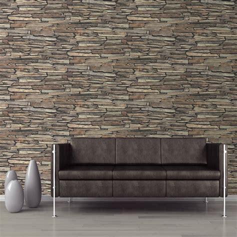 schieferwand innen muriva slate wall pattern faux effect vinyl