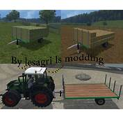 FS 15 Trailers For Small Bales V 20 Bale Transport Mod