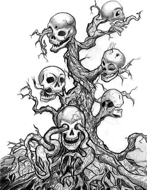 skull tree by pepper keychain on deviantart