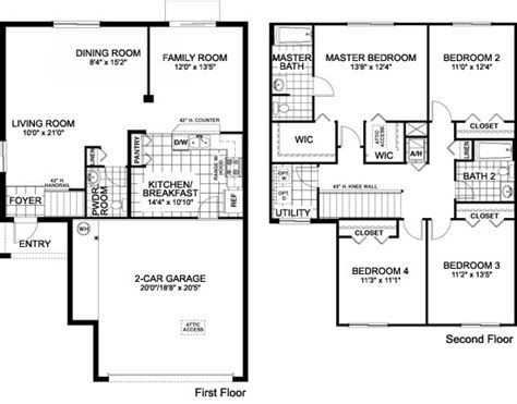 family home floor plan lovely single family home plans 6 one story single family