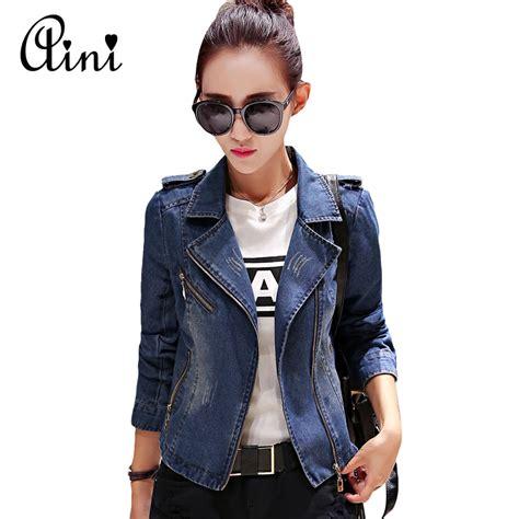 Jaket Wash Koreanstyle new korean style sleeve fashion denim jacket jacket basic jean jacket