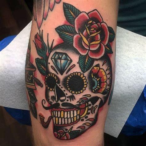 100 sugar skull tattoo designs for men cool calavera ink
