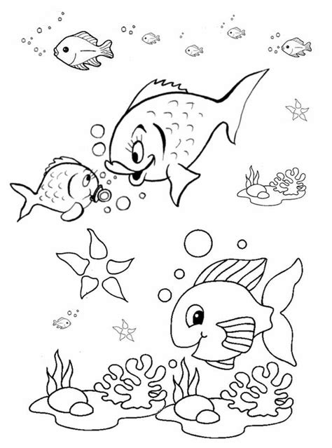 Fish Coloring Pages For Preschool Preschool And Kindergarten Coloring Pages Preschool