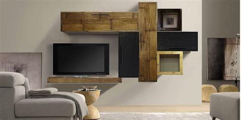 mobili a parete per soggiorno mobile etnico parete soggiorno moderno sospeso in legno e