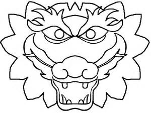 dragon mask colouring pages